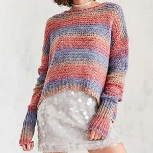 Ecote daybreak gradient stripe wool blend sweater